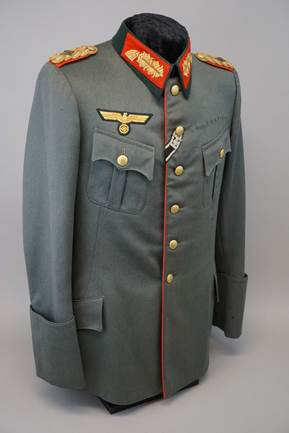 WWII GERMAN OFFICER PARADE UNIFORM SILK AIGUILLETTE