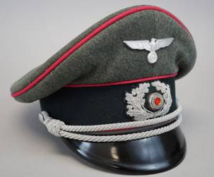9b49c591375 (click on photo for more detailed images). Heer Artillery Officer s Crusher  Cap